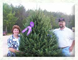 Tom and Sue with 2003 WI Grand Champion Tree